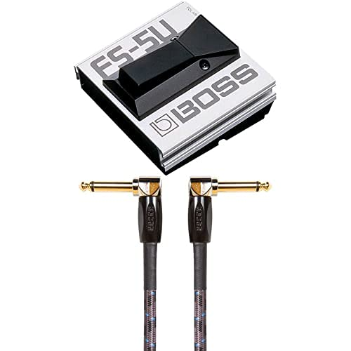 Paquete de conmutador de pedal continuo BOSS FS-5U con cable de instrumento BIC-3AA
