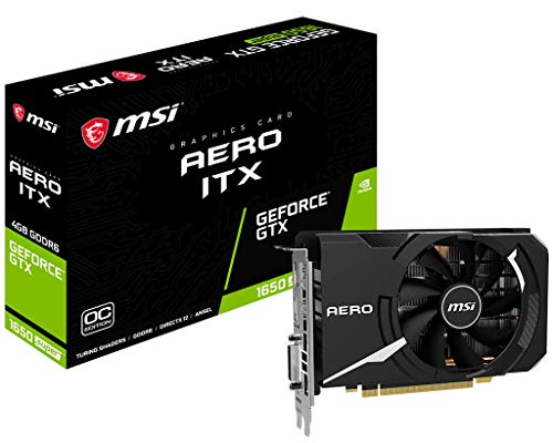 MSI Gaming GeForce GTX 1650 Super 128-Bit HDMI DP DVI 4GB GDRR6 HDCP Support DirectX 12 Single Fan VR Ready OC Graphics Card (GTX 1650 Super Aero ITX OC) (GeForce GTX 1650 Super AERO ITX OC)