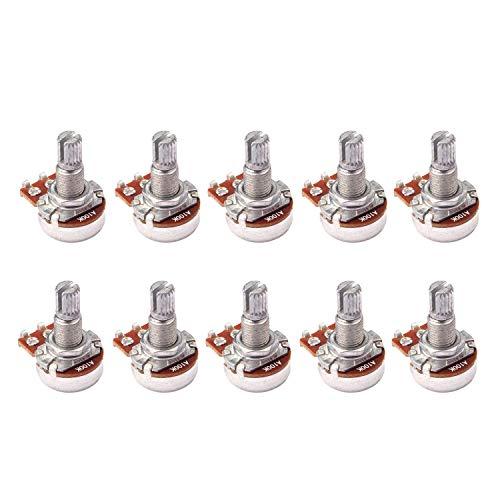 Cuasting 10 Stks Gitaar Bass Volume Tone Control Pots Potentiometer Schakelaar A100K