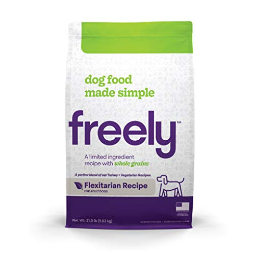 Freely Limited Ingredient Diet, Natural Dog Food, Whole Grain Adult Dry Dog Food, Flexitarian (Vegetarian, Turkey) Kibble, 21lb bag