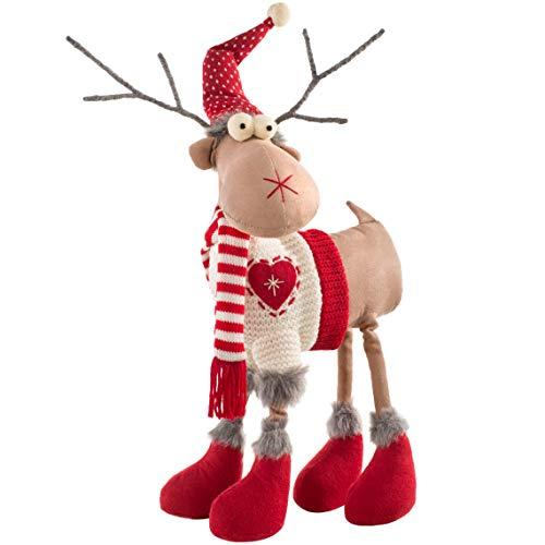 WeRChristmas - Figura Decorativa de Reno navideño con Cuatro Patas, 41 cm, Multicolor