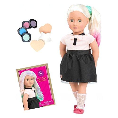 Our Generation 44433 Doll with Chalk Deco Hair, Amya BATTAT Puppe, Mehrfarbig