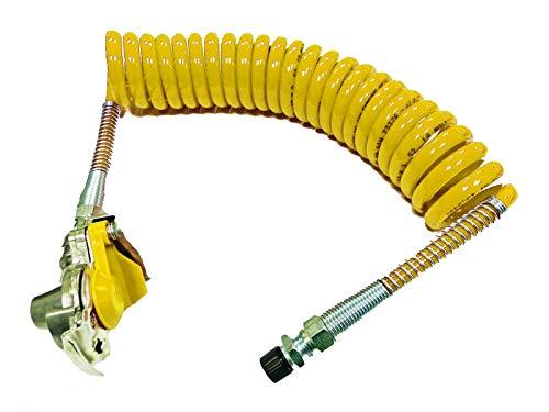 Fahrzeugbedarf Wilms Luftwendel/Wendelschlauch gelb mit Kupplungskopf M16, LKW/NFZ/Anhänger