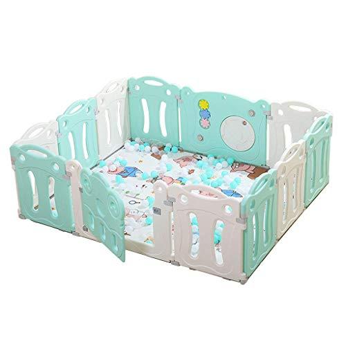 WTT Baby Fence Juegos para niños Indoor Home Playground Safety Fence Baby Toddler Crawling Pad Bar Anti-Fall