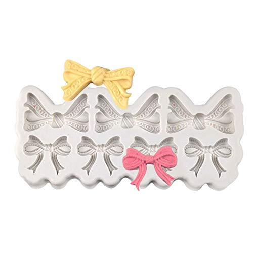YTYASO Bögen Silikonform Für Fondant, Gummipaste, Schokolade, Crafts Cupcake Icing Zuckerpaste 3D-Verzierung Topper Mold