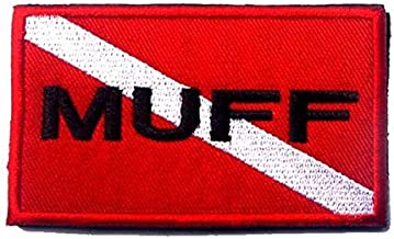 MUFF Diver MUFF Diving Scuba Diving 3D Tactical Military Badges Embroidered Patch Back with Loops and Hook