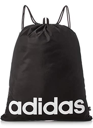 Adidas Linear - Borsone nero/bianco, taglia unica