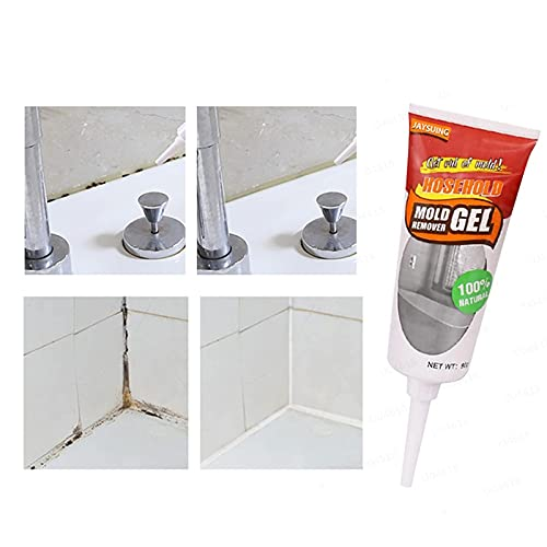 sfdeggtb Mould Magic Remover, Household Anti-Mildew Agent Gel Powerful Quick Great for Wall Tiles Wall Corner and Kitchen Bathroom Sink (20g)