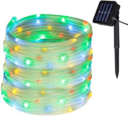 CHINS Led Lichterkette, Led Lichterschlauch Außen, Solar Led Lichterkette,10M 100er LED, IP65 Lichter für Innen Außen Party Hochzeit Weihnachten Deko