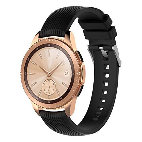 Anji Cat Correa de Reloj Inteligente, Samsung -Galaxy Watch Active Watch 3 Correa de Silicona con Rayas Rectas de 41 mm 20