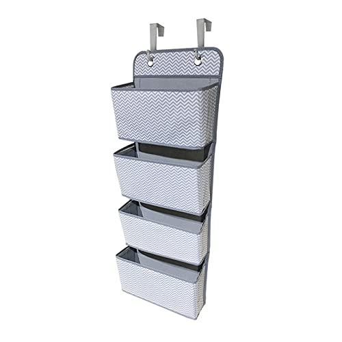 YANGYANG Allenzhang Over The Door Organizer 4 Pocket Wall Planket Bag Sacchetto di immagazzinaggio I Ganci Metallici salvano Lo Spazio nel Tuo Baby vivaio Bagno Armadio dormitorio (Color : Wave)