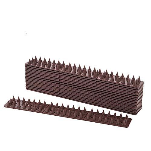 EXLECO Pinchos Antipalomas Plastico 30cm/4.3cm/17mm(L/B/H) Marrón Panelas de contra Aves Pincha a...