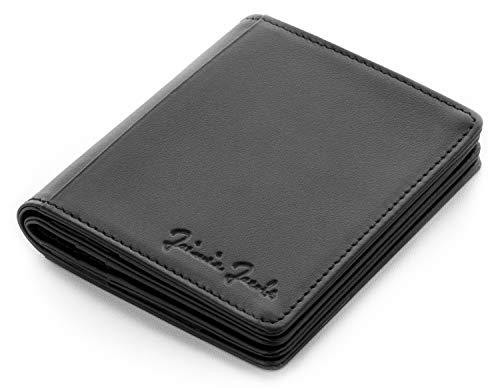 JAIMIE JACOBS Magic Wallet FLAPSTAR Portafoglio Magico con Portamonete e protezione RFID, Porta carte di credito, Porta tessere slim uomo (Nero)