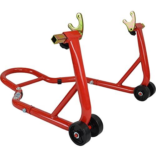 Cavalletto solleva moto alzamoto posteriore solleva ruota posteriore per moto con nottolini Stand posteriore fino 200kg Strumento di Sollevamento e Riparazione del Motociclo EchoENG MA CM RP00