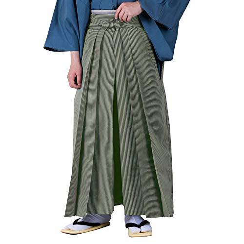 KYOETSU Japanische Hakama-Hose für Herren, dünn, gestreift - Gr�n - X-Small