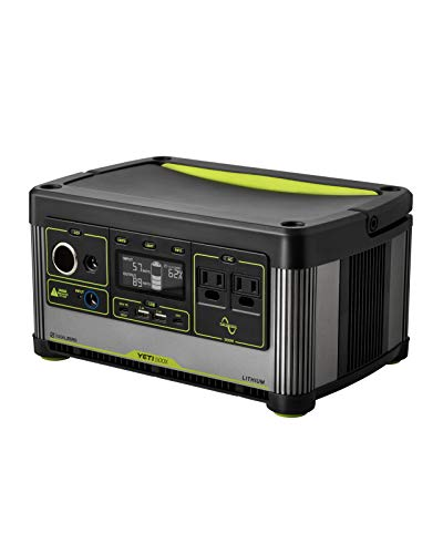 Goal Zero Yeti 500X Portable Power Station, 505Wh Portable Lithium Battery Emergency Power Station, Outdoor Solar Generator, 120V AC Pure Sine Wave Inverter, 12V Car Port, 6mm, USB C PD, USB A Port