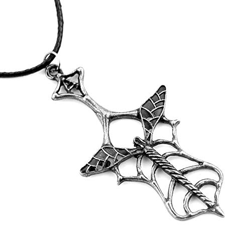 Gótico punk marea mecedora antiguo vajilla europea cuchara collar cadena de cuerda de cuero para mujeres accesorios de suéter
