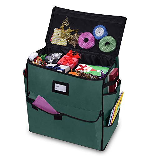 ProPik Unique Holiday Storage Organizer for Gift Bag and Wrapping Accessories (Green)