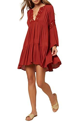 O'NEILL Strandkleid für Damen, kurzes Kleid - Rot - X-Small