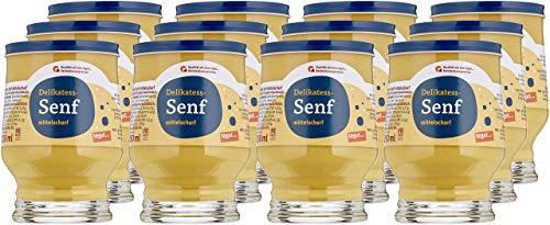 tegut... Delikatess-Senf mittelscharf im Glas, 12er Pack (12 x 250 g)