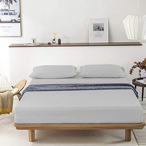 Indian Kìngdom - Juego de sábanas de algodón egipcio (400 hilos, 152,4 x 203,2 cm), 38,1 cm, sábana encimera (233,7 x 259,1 cm) + fundas de almohada (50,8 x 76,2 cm), tamaño Queen