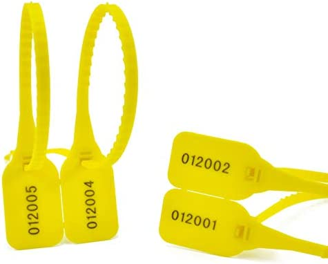 300pcs Yellow Disposable Security Seals Inventory cleanup selling sale Tag Self-locking Finally resale start Plastic