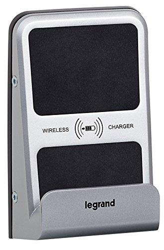 Legrand 077599 inductie-oplader, 1000 mA, mozaïek-versie, half bouwbaar, voor openbare ruimtes - kleur aluminium
