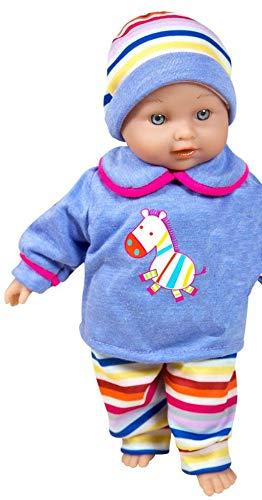 Lissi Babypuppe sprechende Nina Puppe 6 Sounds ab 2 Jahre blau