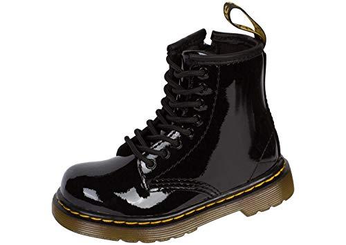 Dr. Martens Brooklee, Boots mixte bébé - Noir (Black Patent Lamper) - 22 EU