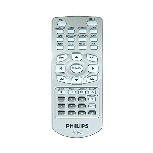Philips Original Dedicated Remote Control RC800 for Portable DVD Players - 9940-000-00724 - PET700, PET800