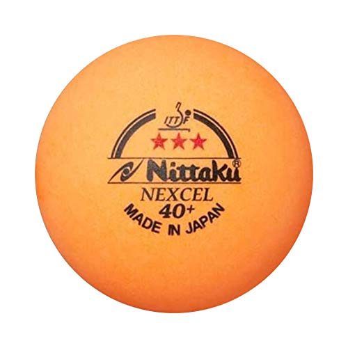 Purchase NITTAKU 12 Balls NEXCEL (Made in Japan), 40+ Orange 3 Stars Table Tennis Ball + Free Racket...