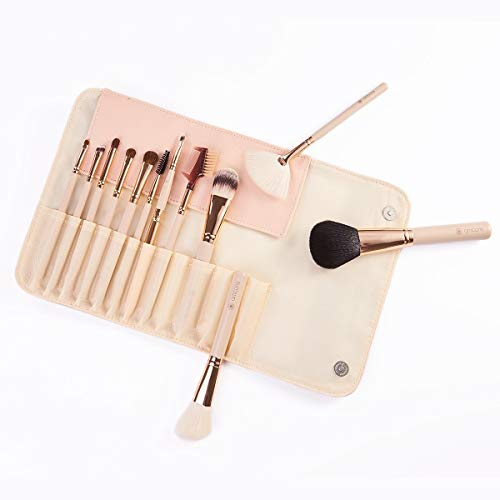 Perfect diary Pinceau de Maquillage Ensemble de Maquillage de Brosse Sac de Maquillage Brosse (12 Pcs, Rose) A ++ (Color : Pink, Size : 12)