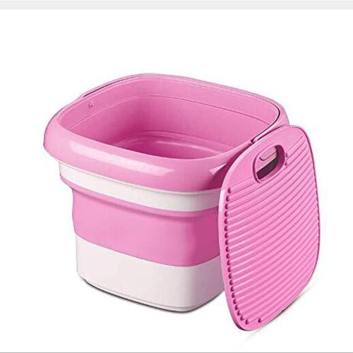 AYCPG Lavadora Plegable portátil, Mini Lavadora semiautomática, Puede Lavar Ropa Interior, Bragas y Calcetines, Disponible en Dormitorio, esterilización de ozono, Azul hfhdqp (Color : Pink)
