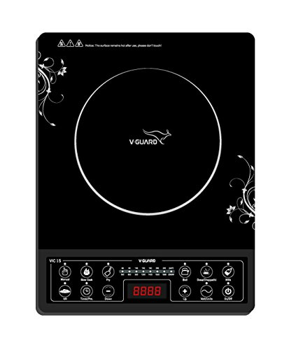 V-Guard VIC-15 2000-Watt Induction Cooktop (Black)