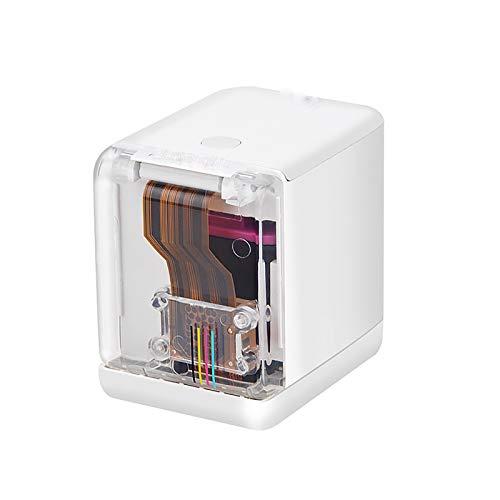 CYYDBB Mini Impresora a Color Portátil, Texto Personalizado Impresora De Inyección De Tinta De Impresión Inalámbrica para Teléfonos Inteligentes 1200 PPP con Cartucho De Tinta