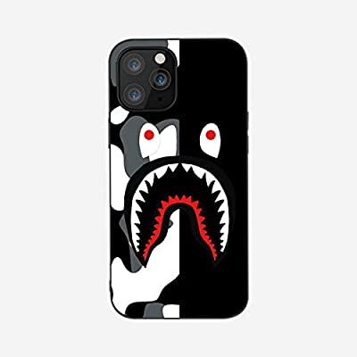 Shark Teeth Hardshell Silicone Case Compatible iPhone XR/11/X/XS Mas /12 mini/12/12 pro/12 Pro Max with Matte Finish Hypebeast iPhone Case