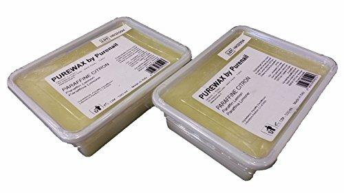 2barras de 500ml de parafina de limón para hervidor de parafina, cuidado de manos y pies