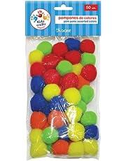 DOHE 18101 - Pack de 50 pompones de colores