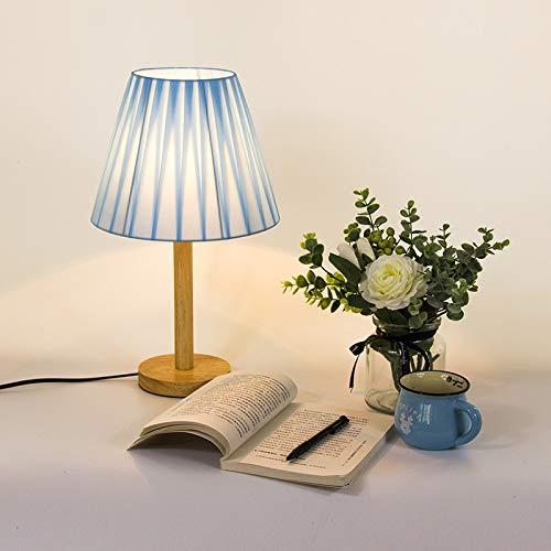 Lámpara De Mesa De Madera Plisada Casera Minimalista Moderna Lámpara De Noche Del Dormitorio Del Hotel Lámpara De Pie Led 270X450MM cielo azul