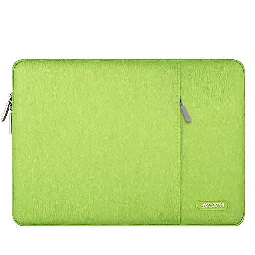MOSISO Tablet Sleeve Hülle Kompatibel mit 2021-2018 iPad Pro 11 M1,2020 10.9 iPad Air 4,10.2 iPad 2020 2019,10.5 iPad Air 3,10.5 iPad Pro,9.7 iPad,Surface Go,Polyester Vertikale Tasche,Greenery