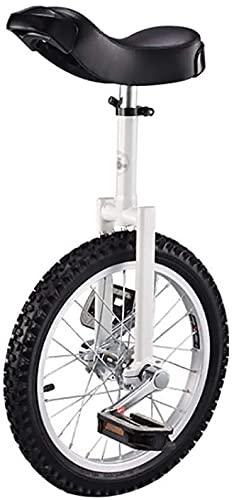 ZWH Bicicletas Monociclo Unicycle Individual Ronda para Niños Adulto Ajustable Altura Equilibrio Ejercicio De Ciclismo 16/18/20 Pulgada (Size : 16 Inch)