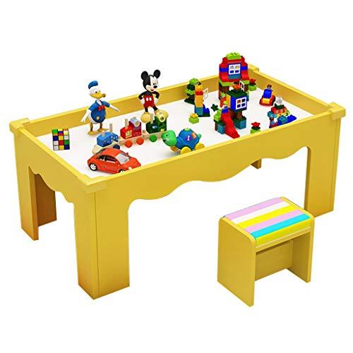 Table d'étude pour enfants Table en Bois pour Enfants Table d'étude de Jeu Multifonction Peut Supporter Le Poids de 200 kg (Color : Yellow)
