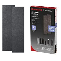 ODOR & GAS REDUCING PRE-FILTER REPLACEMENT – This 2-pack of certified Honeywell HRF-K2 K pre-filter air purifier filters help capture larger particles such as dust, lint, fibers and pet fur, and helps adsorb some common household VOC gases and fumes*...