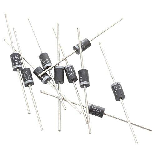 ACAMPTAR 10 Stueck 100V 5A Kleines Signal Schottky Gleichrichter Dioden