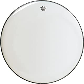 Remo BR1222-00 Smooth White Ambassador Bass Drum Head - 22-Inch