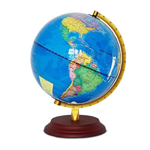 Globo Mini Inglés Brillante Globo Mundo Mapa 25CM Escuela Media Estudiantes Especial Enseñanza LED Lámpara de Mesa Decoración Aula Juguetes Educativos