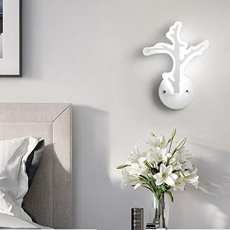 FCX-LIGHT Kreative LED Wandleuchte Innen wandlampe Minimalistische LED Streifen Moderne Kunst Dekoration für Schlafzimmer Wohnzimmer Cafe Korridor,Beige,A