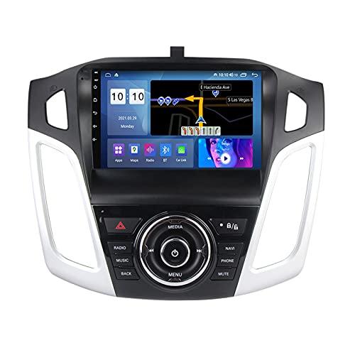 ADMLZQQ Android 10.0 In-Dash Car Stereo Radio para Ford Focus 2011-2015, Pantalla Táctil De 9 Pulgadas con Bluetooth Carplay GPS FM Am RDS DSP USB SWC Cámara Trasera Ventilador,A,M600S 8Core 6+128G