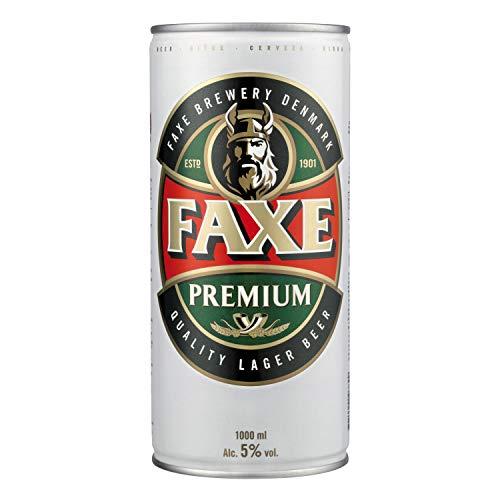 FAXE Premium 5% Dänisches Lagerbier 1 l Dosenbier