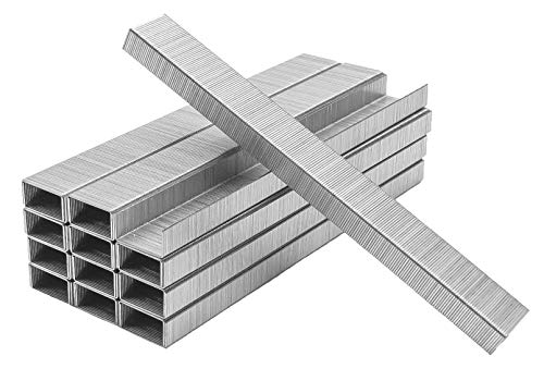 PraxxisPro Premium 26/6 Chisel Point Standard Staples - Silver (5000 Count)